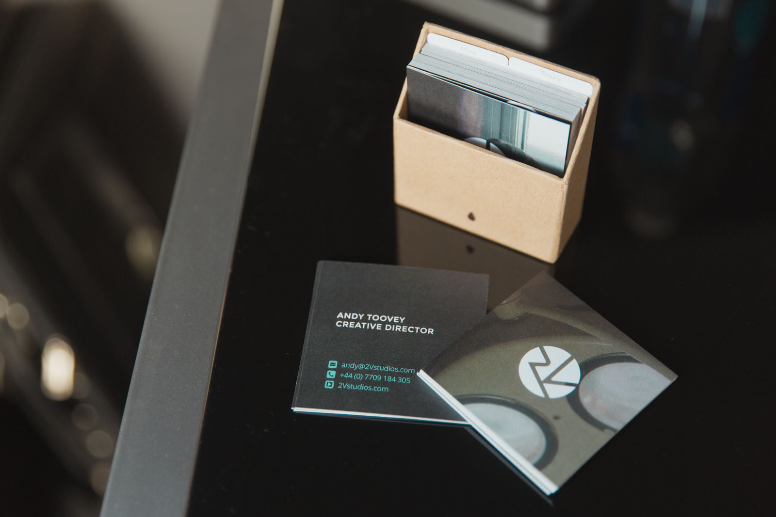 New Business Cards | 2V Studios | South Wales Film and Video ...